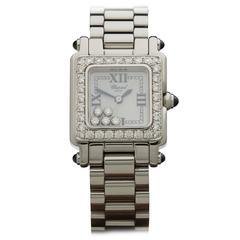 Chopard Lady's Stainless Steel Happy Sport Diamonds Quartz Wristwatch