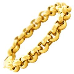 Heavy Every Day Gold Rollo Link Bracelet