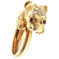 Lalaounis Greek Chimera Diamond Gold Ring
