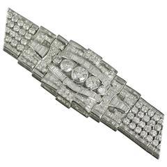 1940s Art Deco Diamond Platinum Bracelet