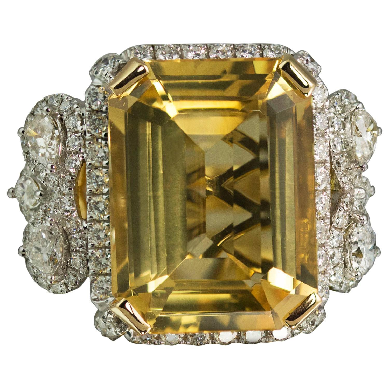 citrine gold ring at 1stdibs