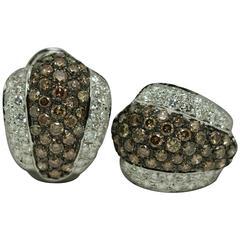 Chocolate Diamond Platinum Earrings