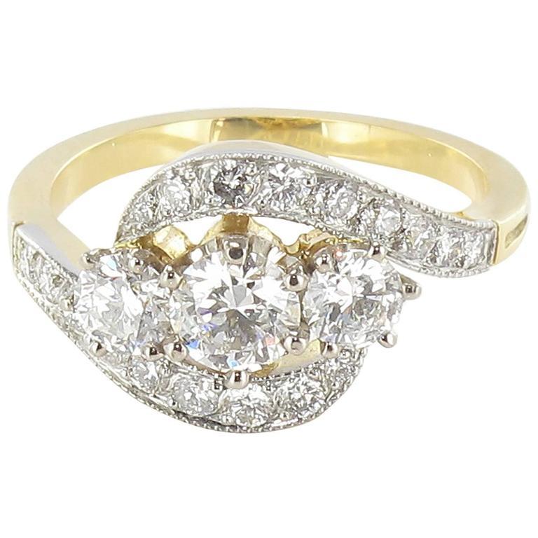 French Trilogy Diamond Ring