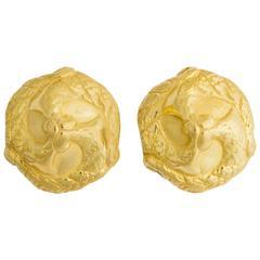 Elizabeth Gage Elegant Domed Earrings