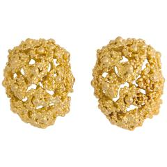 Boucheron Domed Gold Earrings