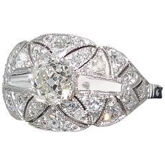 Edwardian Diamond Platinum Ring