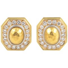Chaumet Diamond Gold Clip-On Earrings