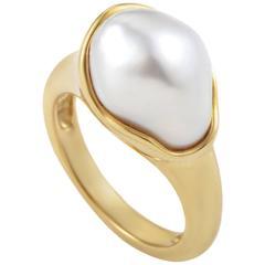 Tiffany & Co. Elsa Peretti Pearl Gold Ring