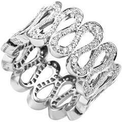 Boucheron Diamond Gold Wavy Band Ring