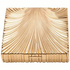 Verdura Gold Shell Cigarette Case