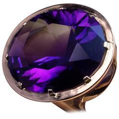 1960s Siberian Amethyst Gold Ring