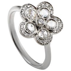 Tiffany & Co. Diamond Platinum Flower Ring