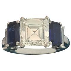 Bulgari 2.24 Carats Diamond Sapphire Gold Ring