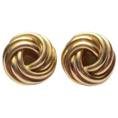 Cartier Love Knot Gold Earrings