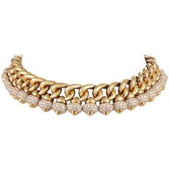 Bulgari Chandra Diamond Gold Choker Necklace