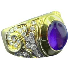 Marina B Amethyst Diamond Gold Ring