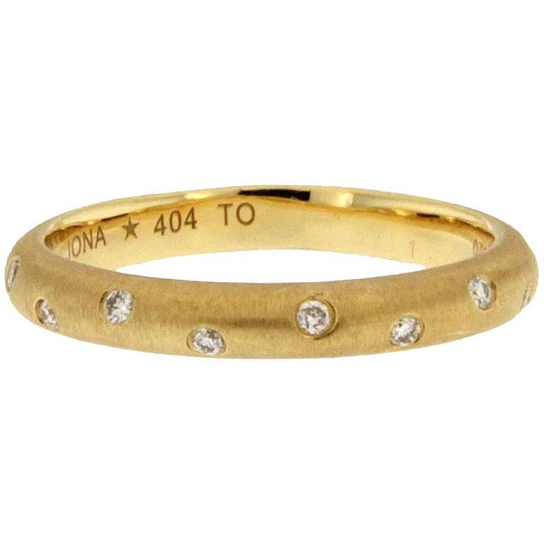 Jona White Diamond 18k Yellow Gold Band Ring