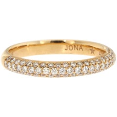 Jona White Diamond 18 Karat Rose Gold Band Ring