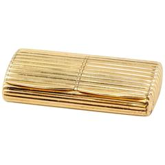 Boucheron Paris Gold Ribbed Double Compartment Pill Box