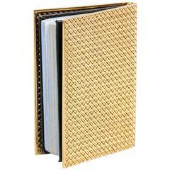 Van Cleef & Arpels Gold Basket Weave Calendar Address Book