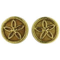 Tiffany & Co. Jean Schlumberger Gold Flower Motif Earrings