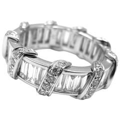 Verdura Diamond Platinum Wide Eternity Band Ring