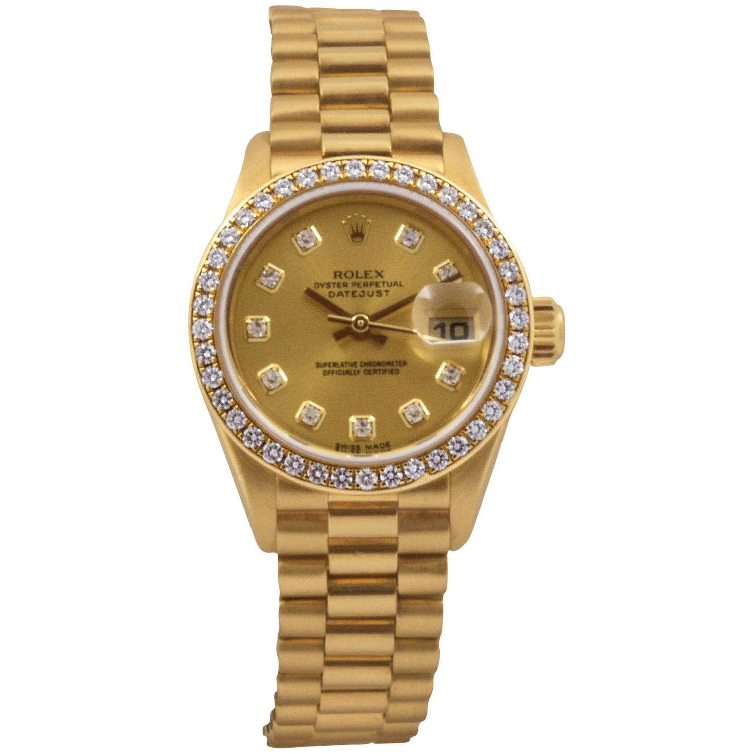Rolex Yellow Gold Diamond Dial and Bezel Presidential ...