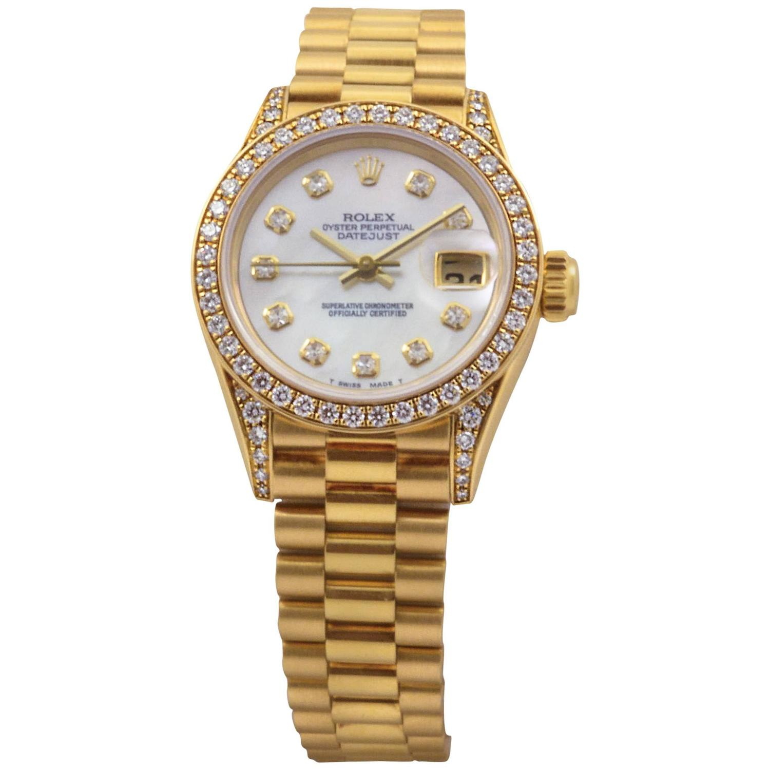 Rolex Yellow Gold Diamond Presidential DateJust 26mm ...