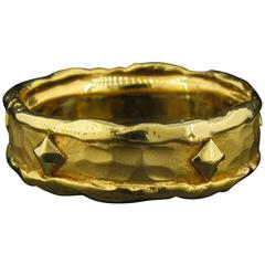 Victor Velyan Gold Band Ring with Nails