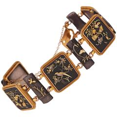 Antique Shakudo Gold Bracelet