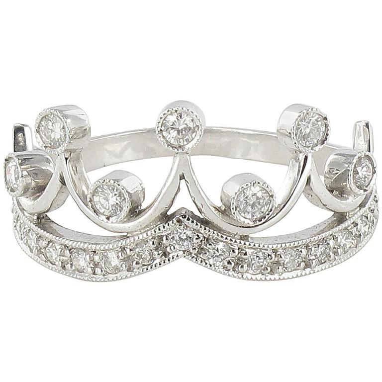 Original Diamond and Gold Tiara Ring 1
