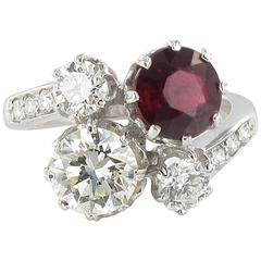 Sublime Ruby and Diamond Engagement Ring