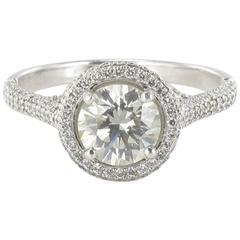 New Diamond Platinum Solitaire Ring