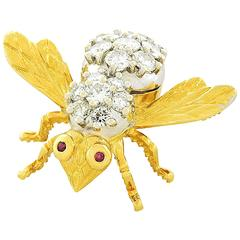 Herbert Rosenthal Diamond & Gold Bee Pin