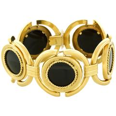 Sixties Onyx and Gold Bracelet