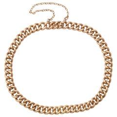1910s Russian Rose Gold Link Bracelet