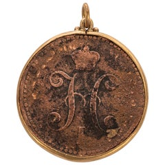 Russian 1841 Tsar Nicholas I Coin Pendant