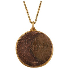 Russian 1778 Catherine the Great Coin Pendant