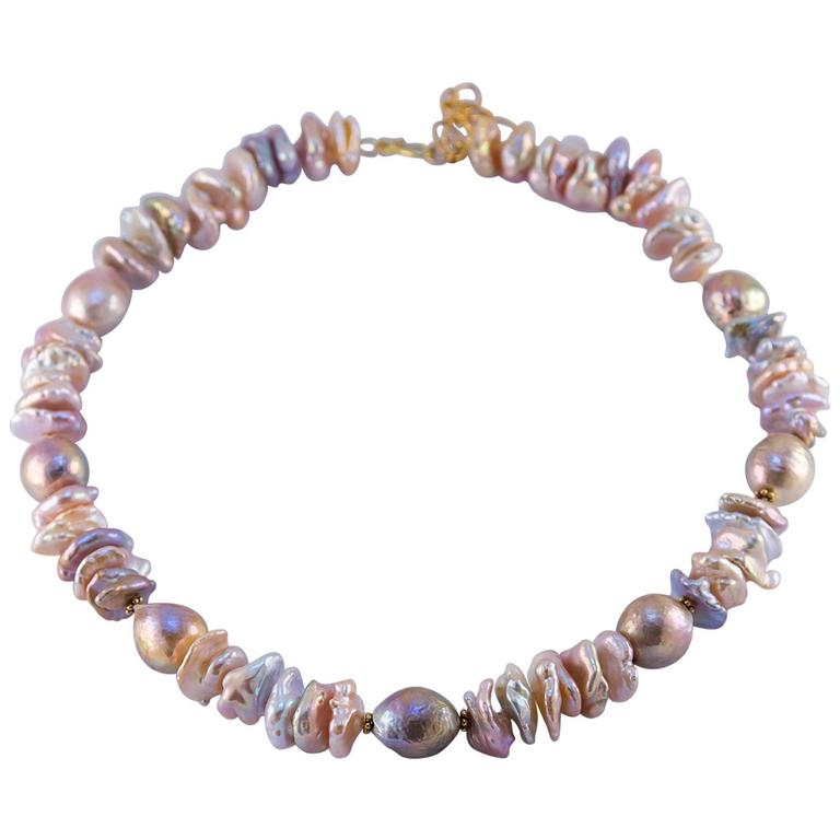 Large Cultured Fresh Water Pearl Necklace