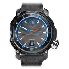 Visconti Stainless Steel Abyssus Full-Dive 1000M Gun Metal Automatic Wristwatch