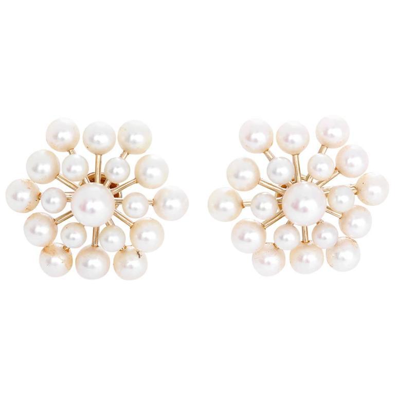 Pearl Gold Non-Pierced Earrings