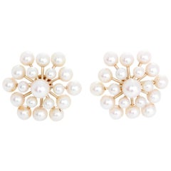 Pearl Gold Non-Pierced Earrings