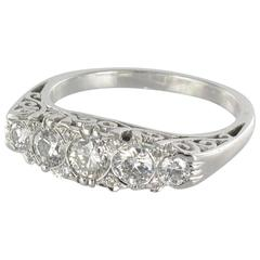 New Diamond and White Gold Ring