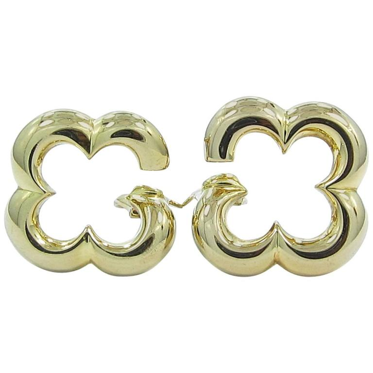Van Cleef & Arpels Gold Alhambra Earrings