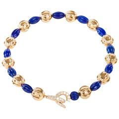 Cartier Lapis Lazuli Diamond Gold Necklace