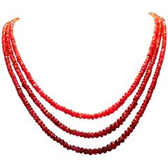 Bright Red Ruby Necklace