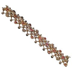 Tiffany & Co.  Pink Sapphire Diamond Gold Bracelet