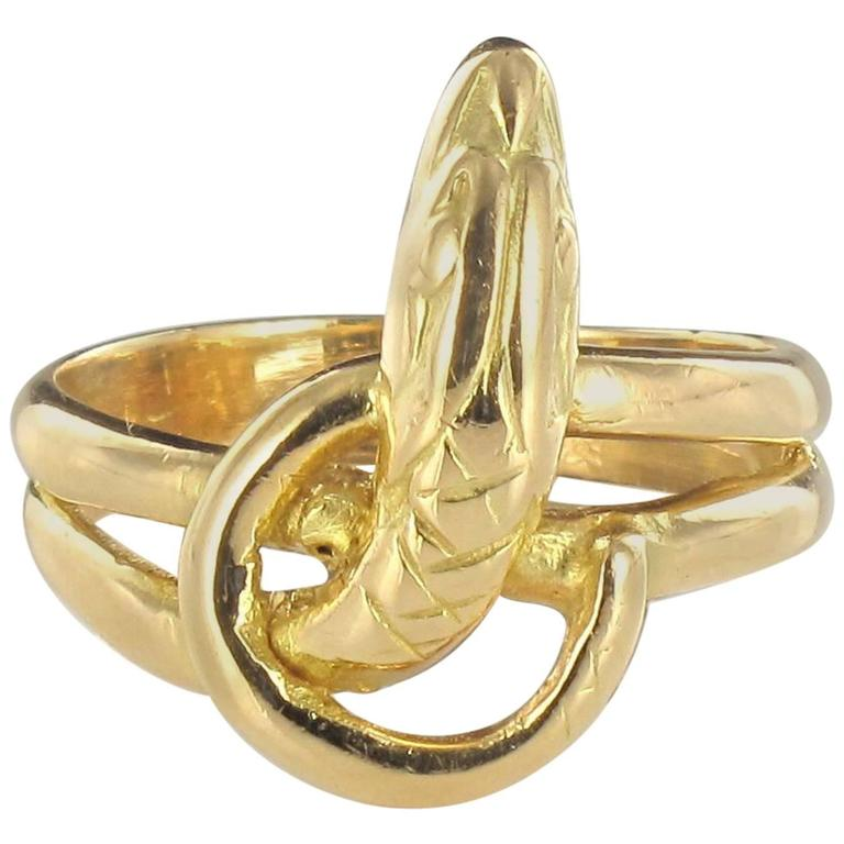 antique gold snake ring at 1stdibs
