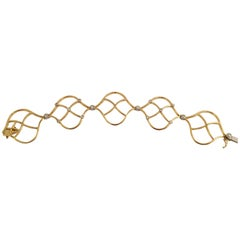 Diamond Gold Woven Bracelet