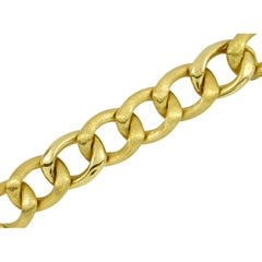 Gold Bracelet with Florentine and High Polished Links